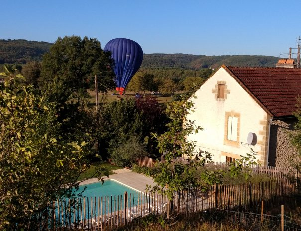 Hot Air Balloon and Villa in Dordogne